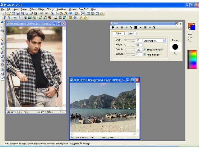 Photo Pos Lite photo editor 1.62 software screenshot
