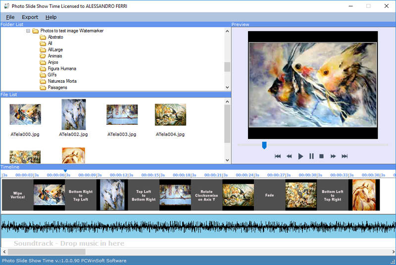 Photo Slide Show Time 1.0.1.40 software screenshot