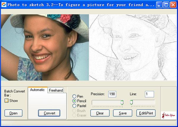 Photo to Sketch Pro 4.0 software screenshot
