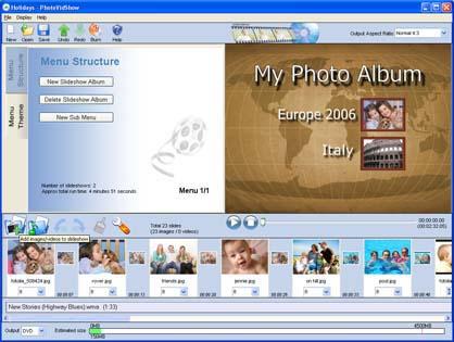 PhotoVidShow 2.17.2 software screenshot