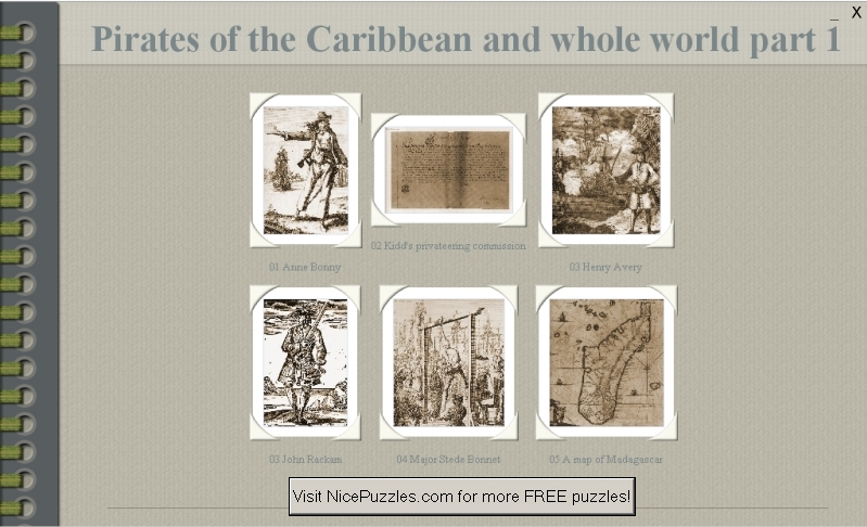 Pirates of Caribbean and World Puzzle 1 1.0 software screenshot