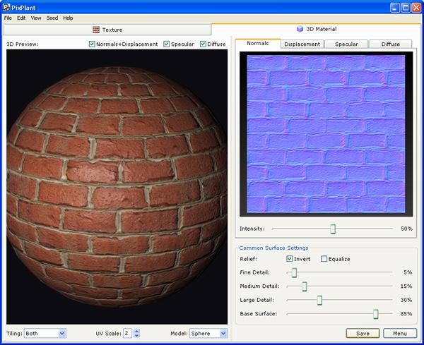PixPlant 3.0.8 software screenshot