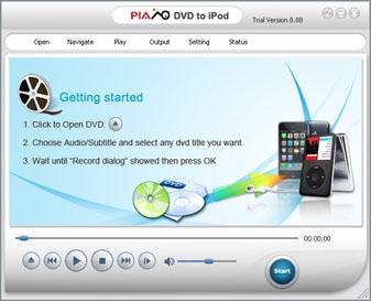 Plato iPod DVD Converter 12.11.01 software screenshot