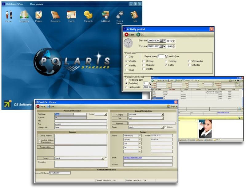 Polaris 1.0 software screenshot