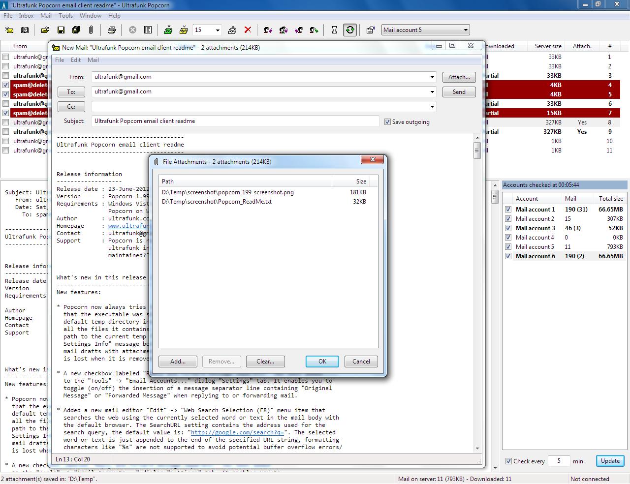 Popcorn 1.99.3 software screenshot