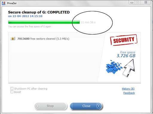 Portable PrivaZer 3.0.21 software screenshot
