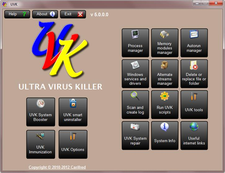 Portable UVK 10.6.1.0 software screenshot