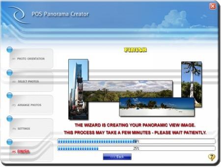 Pos Panorama Pro 1.20 software screenshot