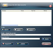 Power PSP/MP4 Video Converter 9.0.4.189 software screenshot
