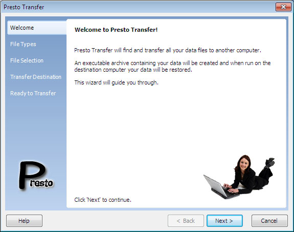Presto Transfer Thunderbird 3.32 software screenshot