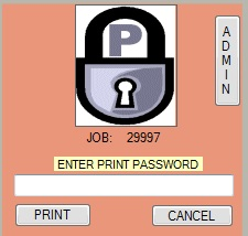 PrintLock 7.1.5 software screenshot