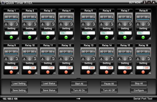 Quick Timer R16X 2.5.1 software screenshot