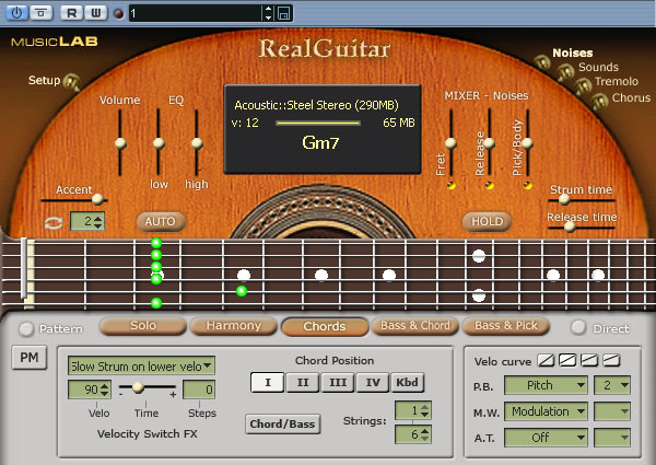 MusicLab RealGuitar 4.0.0.7231 software screenshot