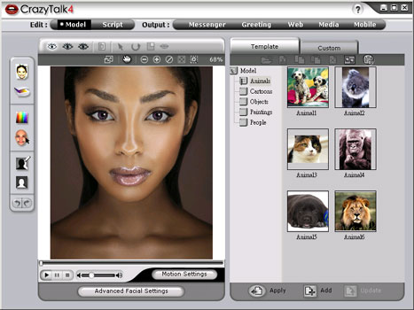 Reallusion CrazyTalk Media Studio Edition 4.6 software screenshot