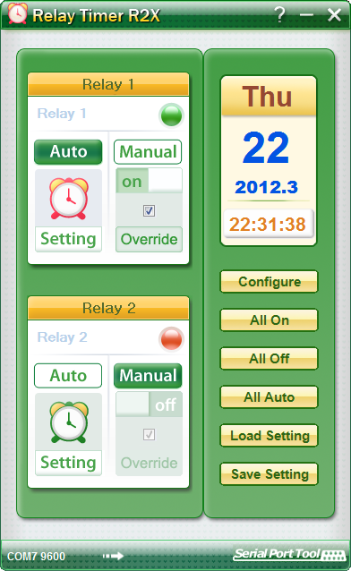 Relay Timer R2X 2.5.1 software screenshot