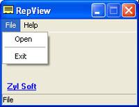 RepView 1.62 software screenshot