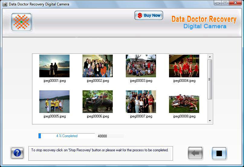 Restore Digital Camera Photos 3.0.1.5 software screenshot
