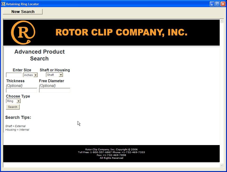 Retaining Ring Locator 1.0 software screenshot