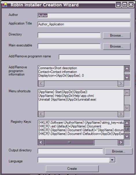 RobinInstaller 1.0 software screenshot
