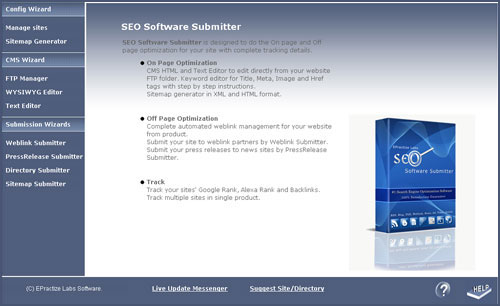 SEO Software Submitter Standard Edition 2.0.1 software screenshot