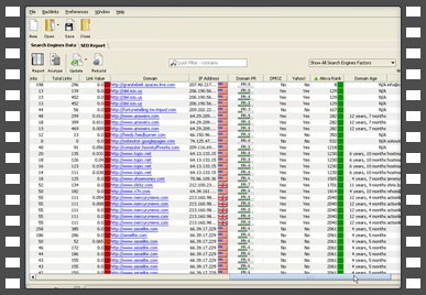 SEO SpyGlass 6.26 software screenshot