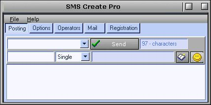 SMS Create Pro 5.7.1 software screenshot