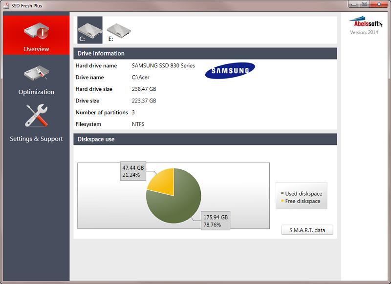 SSD Fresh 2017.6 software screenshot
