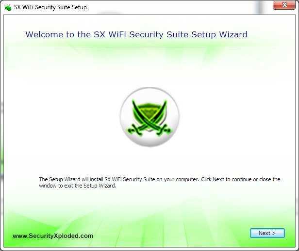 SX WiFi Security Suite 5.0 software screenshot
