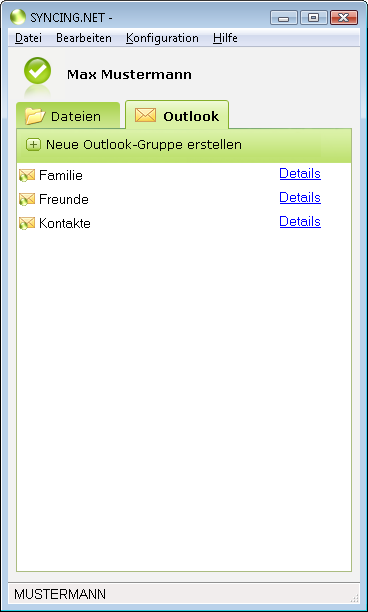 SYNCING.NET 5.1.0.3040 software screenshot