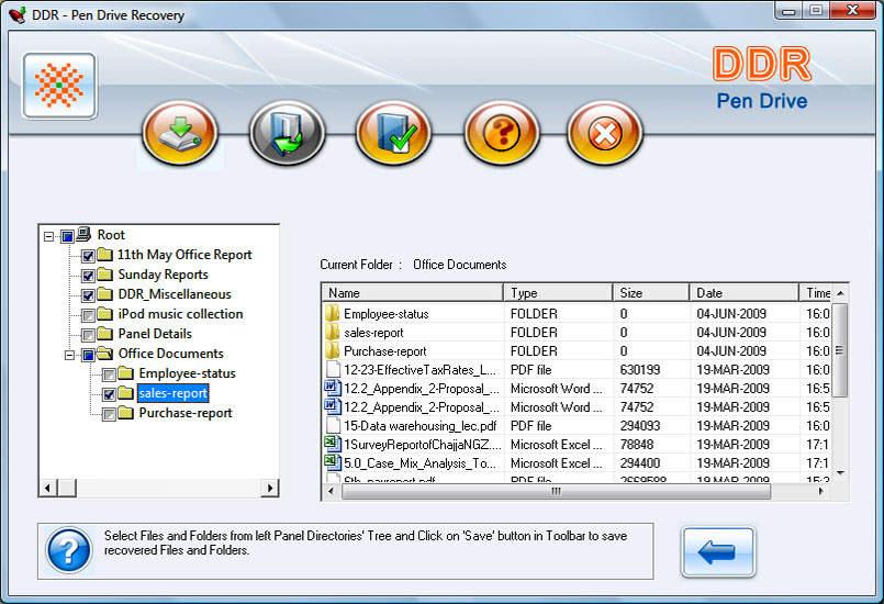 Salvage USB Drive Files 4.0.1.6 software screenshot