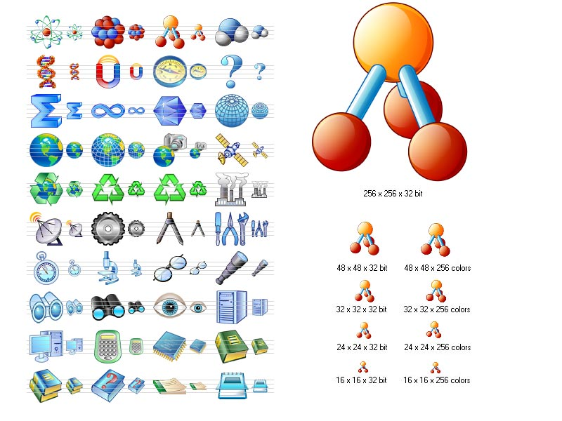 Science Icon Set 3.7 software screenshot