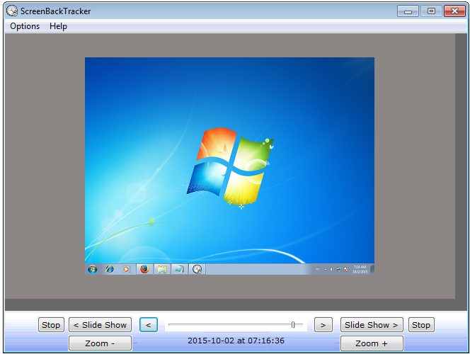 ScreenBackTracker 1.0.2.00 software screenshot