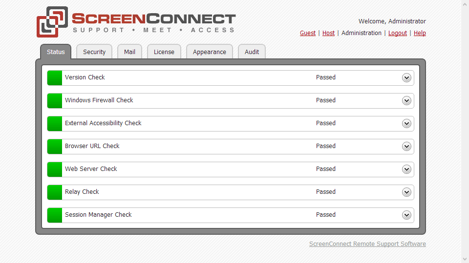 ScreenConnect (ConnectWise Control) 6.3.13446.6374 software screenshot