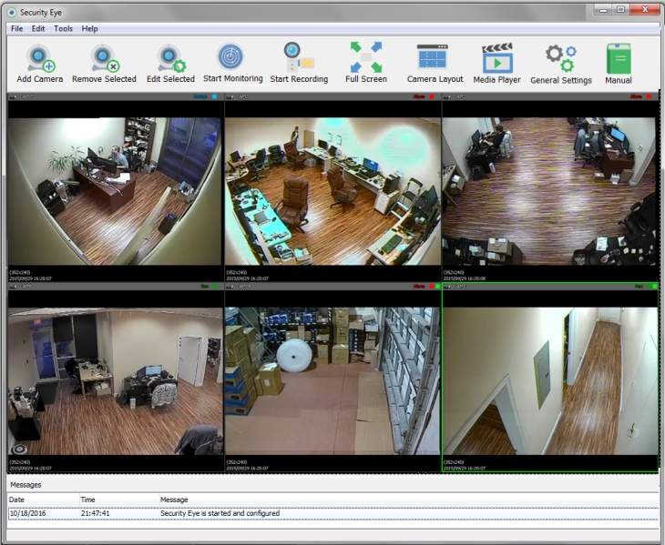 Security Eye 3.8 software screenshot