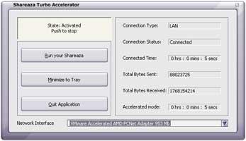 Shareaza Turbo Accelerator 4.0.2 software screenshot