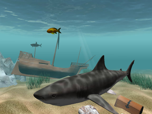 Shark Water World 3D Screensaver 1.6.0 software screenshot