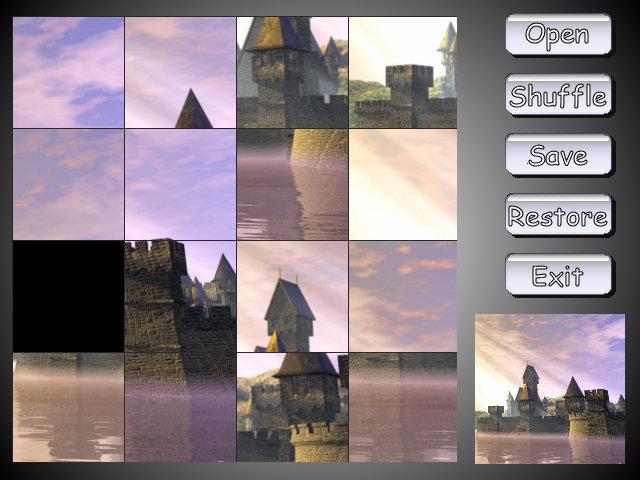 Shuffle Puzzle 3.0 software screenshot