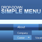 Simple Drop-Down Flash Menu 1.0.5 software screenshot