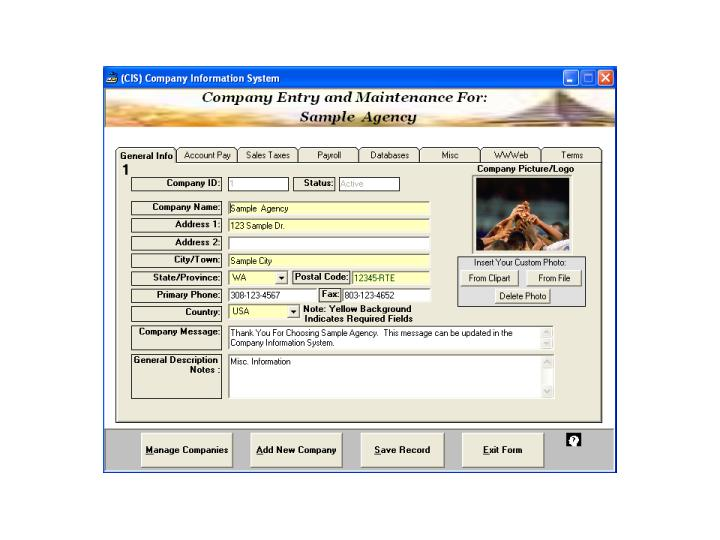 Small Business Management Professional Global Business Ware 2005 software screenshot