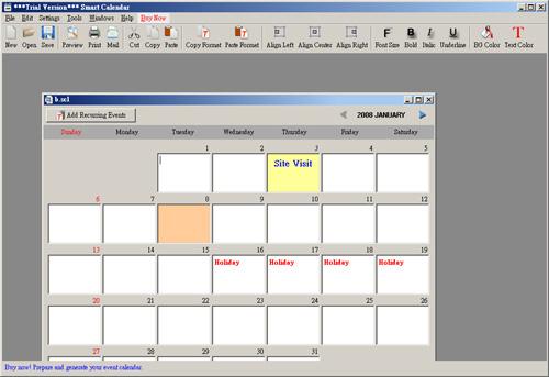 Smart Calendar 3.4.0-b314 software screenshot