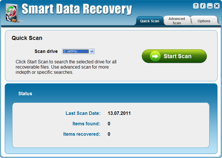 Smart Data Recovery 4.2 software screenshot