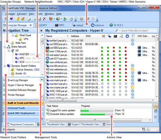 SmartCode VNC Manager Enterprise Edition 6.18.0 software screenshot