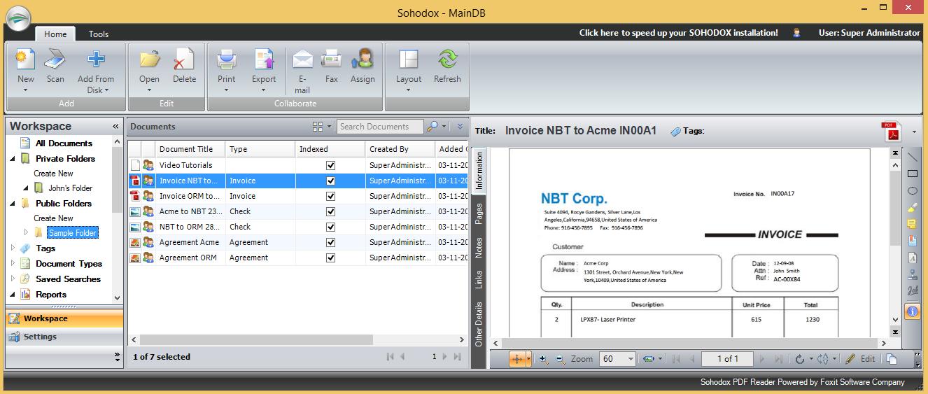 Sohodox 10.16.01.05 software screenshot