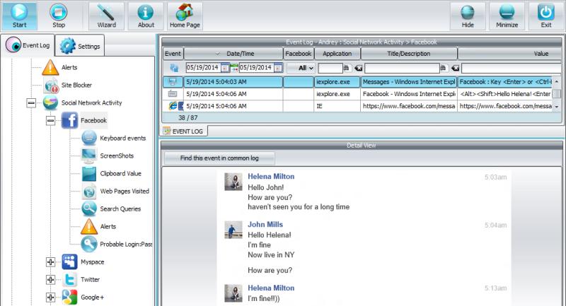 Spyrix Personal Monitor 10.5.0 software screenshot