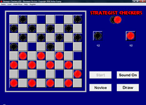 Strategist Checkers 2.1 software screenshot