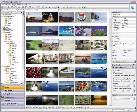 StudioLine Photo Classic 4.2.35 software screenshot