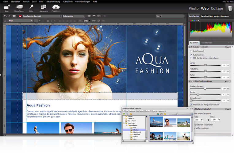 StudioLine Web Designer 4.2.35 software screenshot