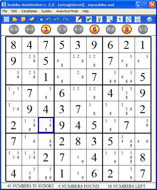 Sudoku Assistenten 2.0.2 software screenshot