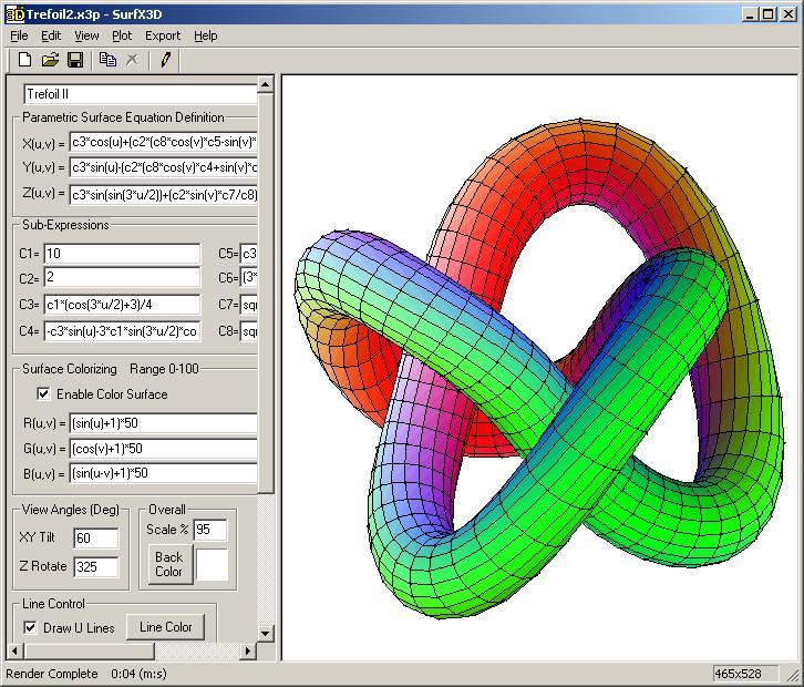 SurfX3D 2.0 software screenshot