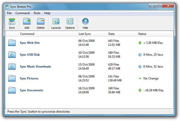 Sync Breeze Pro 9.8.16 software screenshot